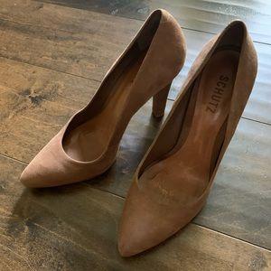 Schutz  nubuck suede classic pointy toe pumps
